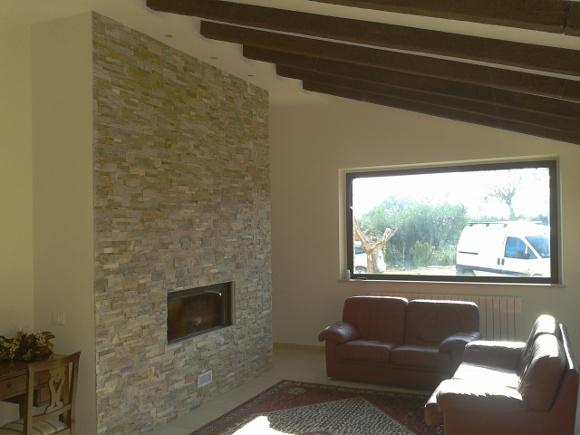 Lavori iterni e decorazioni impresa edile s d manc for Parete attrezzata in cartongesso e pietra